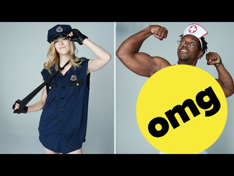 Best Friends Swap Men And Women's Halloween Costumes
