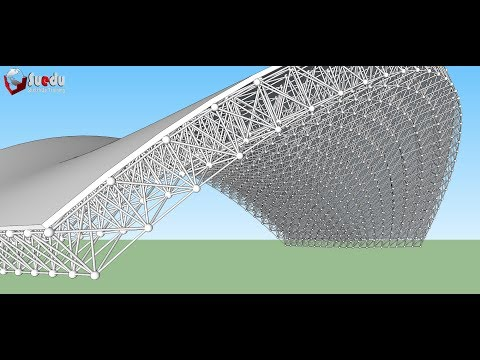 Teach how to model a space frame using SketchUp - Dựng giàn không gian Sketchup