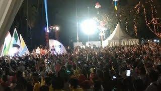 Flashmob dan Goyang 2 Jari Meriahkan Massa Pendukung Jokowi Ma'ruf Amin