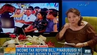 Winnie Monsod lays down pros and cons of Income Tax Reform Bill | Unang Hirit