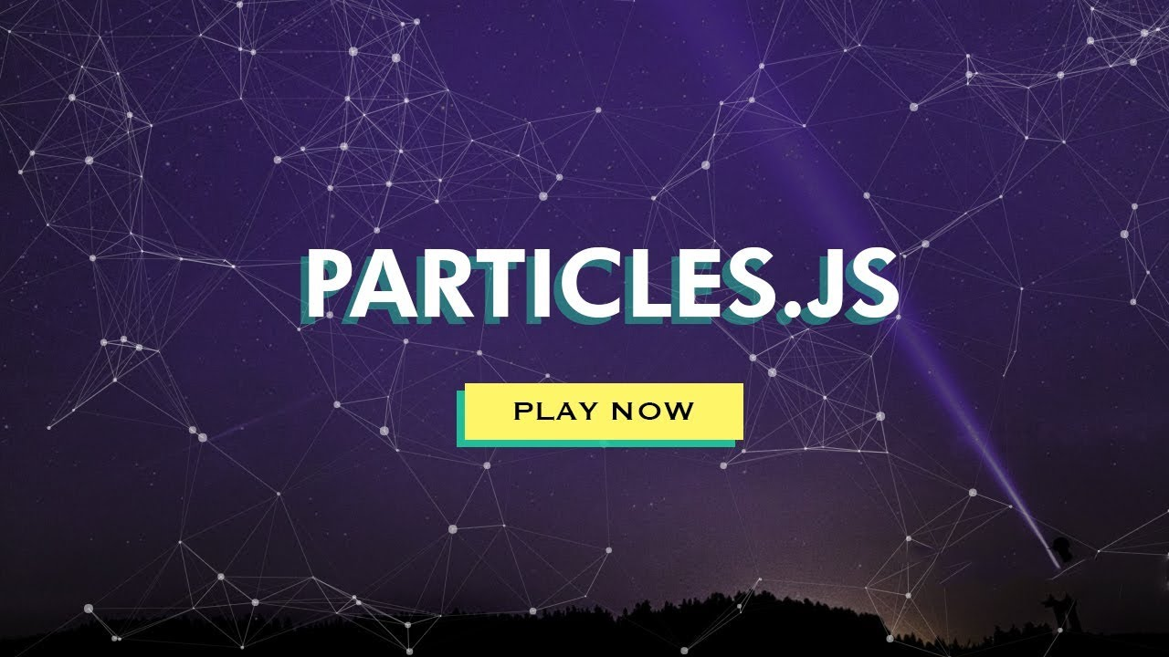 How To Make Website   Moving Particles With HTML CSS Particles JS