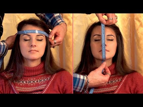 ASMR Face Tapping Massage and Measurement