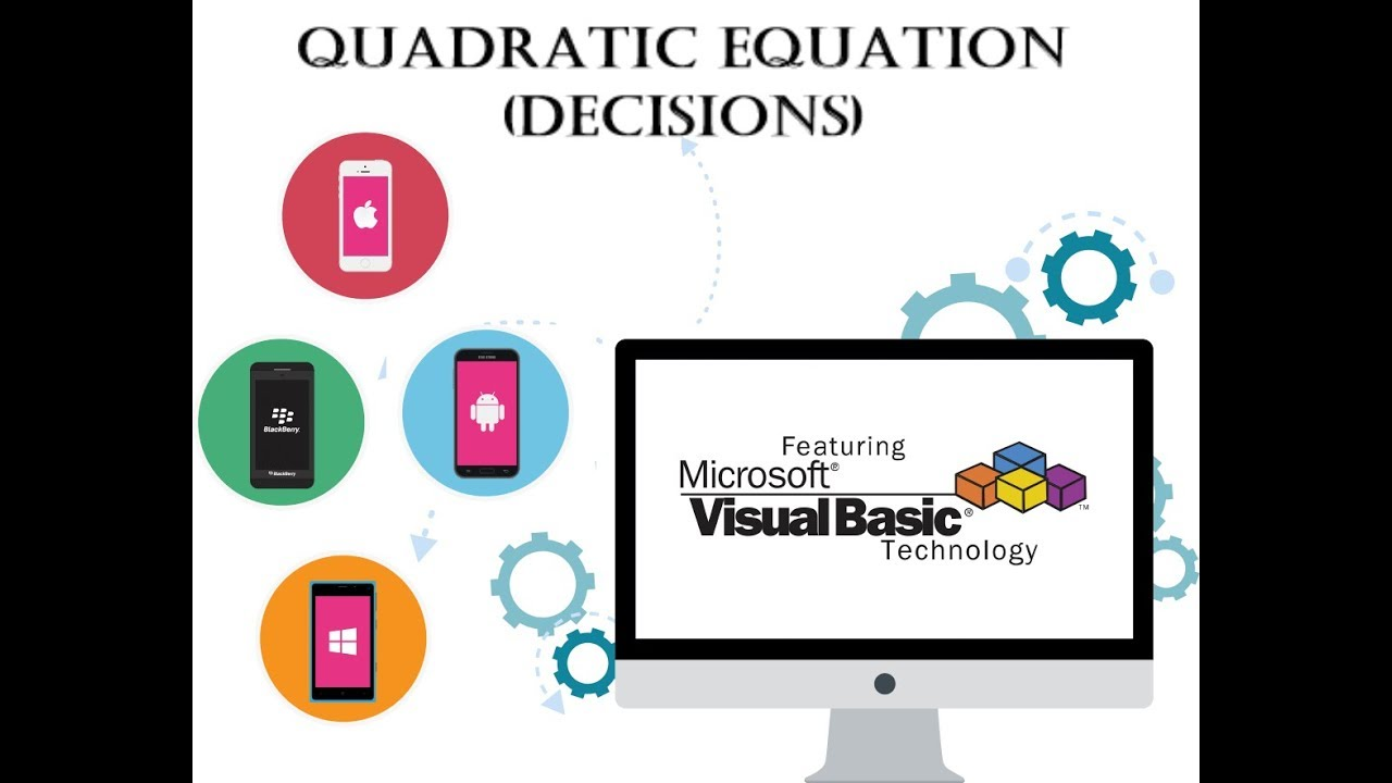 Visual Basic Programming Tutorial with code - Quadratic Equation (Decisions)