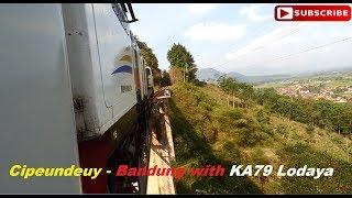 KA79 Lodaya~CC2061396 Lewat Rel Extreme Cipeundeuy~Cicalengka