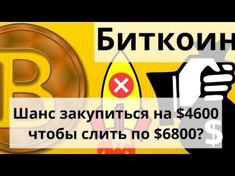 Биткоин даст шанс закупиться на $4600 чтобы слить по $6800 говорит он и жёлтый флаг от Брандта