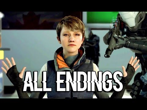 DETROIT BECOME HUMAN - Kara and Alice Cross the Border ALL ENDINGS (all choices)