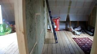 видео Перегородка в деревянном частном доме из бруса своими руками