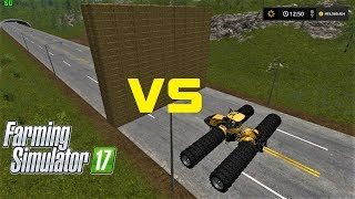 Farming Simulator 17 | BALE WALL VS 44 WHEELS CHALLENGER TRACTOR