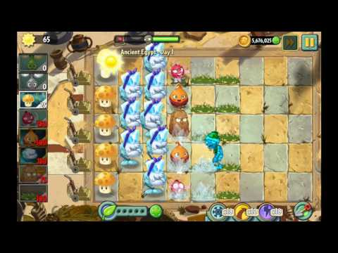 Plants vs zombies 2 ancient Egypt. Electric boogaloo.