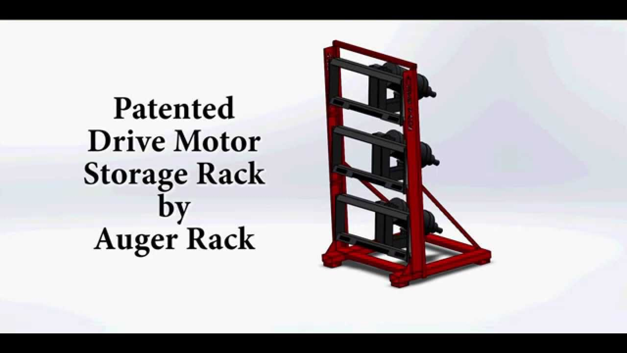 Skid Steer Drive Motor Storage Rack