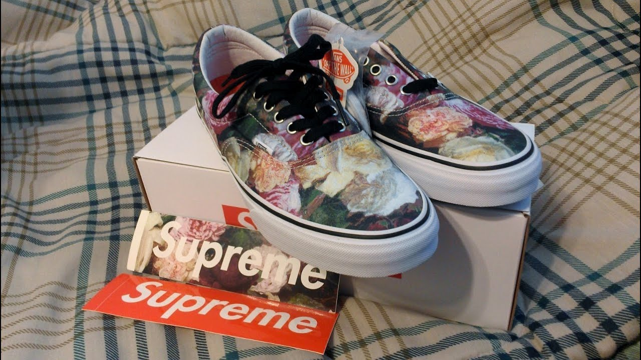 f4a856f8ed38 Supreme x Vans Power Corruption Lies Era Pro Unboxing and Review Spring  Summer 2013 Floral PCL