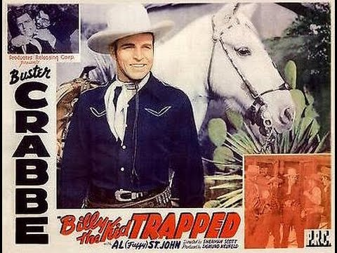 Billy The Kid Trapped BUSTER CRABBE complete full length western movie