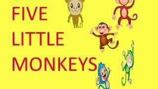 Five little monkeys#kids fun time#kids cartoon#cute monkeys#learn preschool rhymes