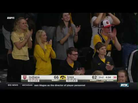 Indiana at Iowa - Men's Basketball Highlights