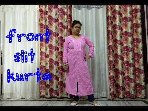 FRONT SLIT KURTI/ MEASUREMENT/CUTTING/FRONT OPEN KURTI/Designer  Kurti/STITCHING
