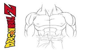 Comment dessiner le corps de GOKU - Dragon Ball Z