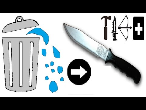 Как сделать нож из мусора (Перезалив)