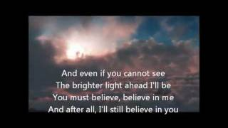 """Ronan Keating - Believe Background from : """"Flying through clouds to..."""
