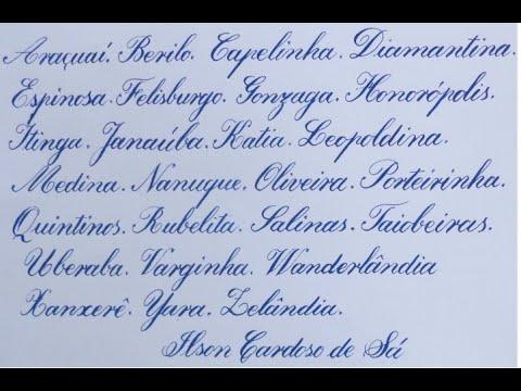 Alfabeto Artístico. Caligrafia Parte 3
