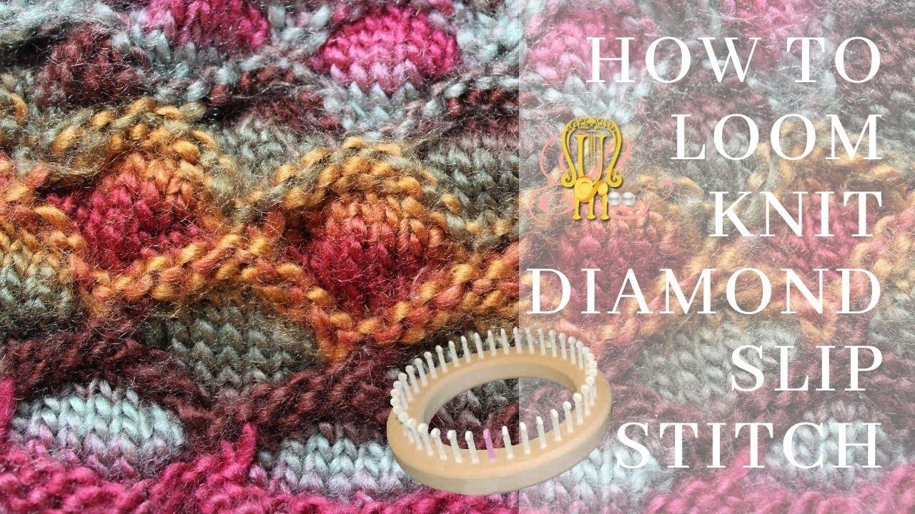 How to loom knit a diamond slip stitch pattern youtube how to loom knit a diamond slip stitch pattern bankloansurffo Choice Image