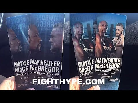 mayweather vs mcgregor ticket first look lenticular shifting