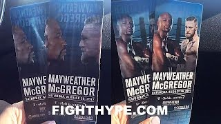 MAYWEATHER VS. MCGREGOR TICKET FIRST LOOK - LENTICULAR SHIFTING IMAGE