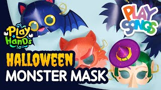 How to Make a Monster Mask for Halloween 👺 | Halloween Crafts for Kids | PlayHands | Playsongs