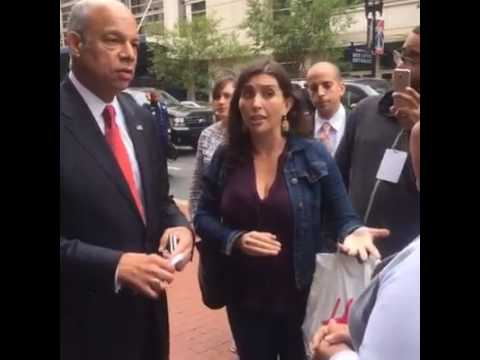Detainees Confront Sec. Johnson Over Detention Crisis