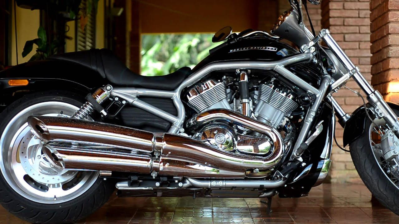 Harley V Rod For Sale >> Harley Davidson VRSC V-Rod 2009 Escapamento Original - YouTube