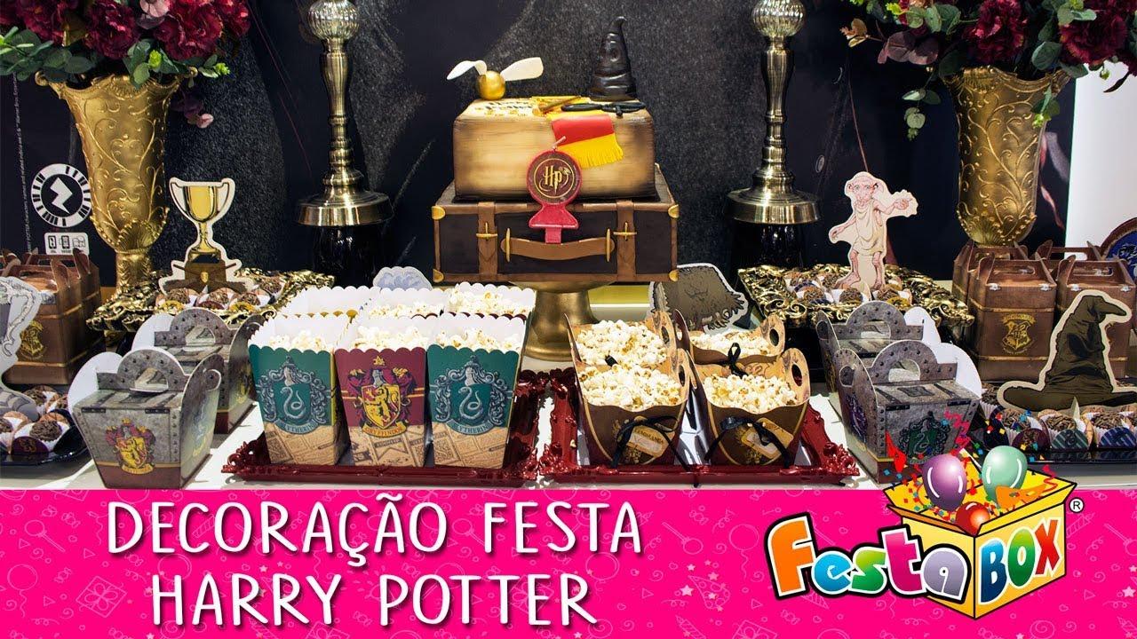 Artesanato Com Papel Origami Passo A Passo ~ Decoraç u00e3o Festa Harry Potter Festabox Festcolor YouTube