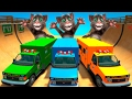 TALKING TOM & COLOR AMBULANCE CARS IN TROUBLE! FOR CHILDREN