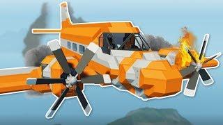 PLANE CRASH IN TSUNAMI! - Stormworks Multiplayer Gameplay - Plane Crash & Tsunami Survival!