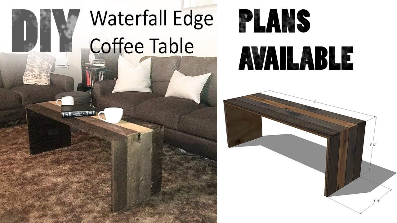 DIY Waterfall Edge Coffee Table YouTube