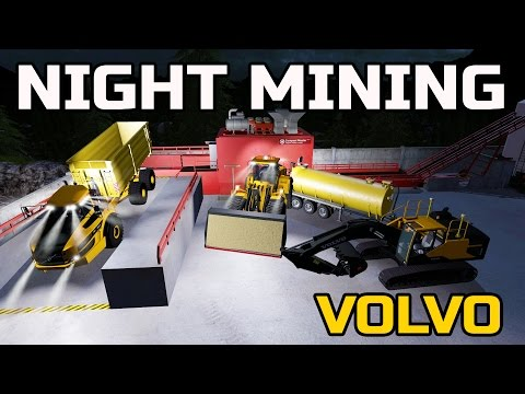 FARMING SIMULATOR 2017 | MINING AT NIGHT + MAKING CONCRETE | MULTIPLAYER