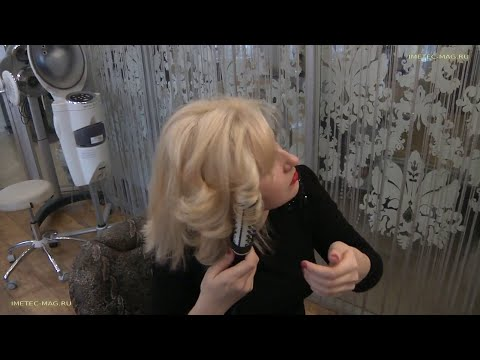 Стильная укладка волос на каждый день термощеткой Imetec