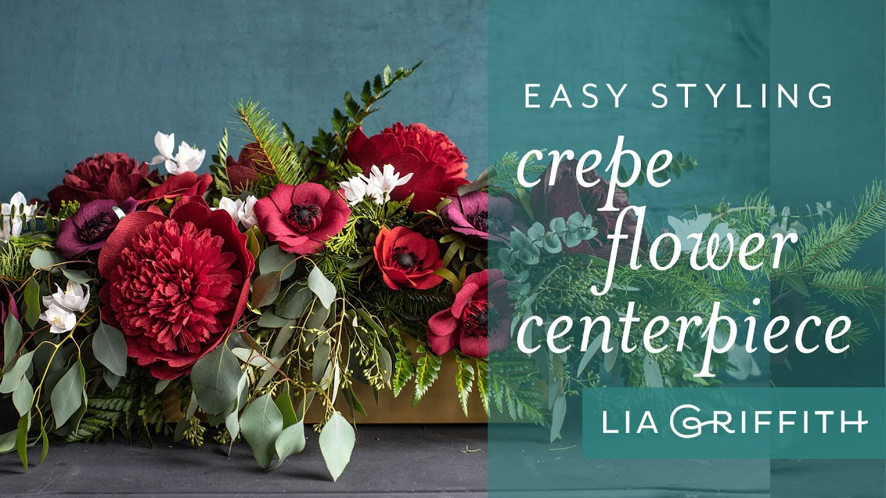Video Tutorial: Paper Flower and Greenery Centerpiece