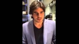 Daniel Arenas grava video p fã brasileira