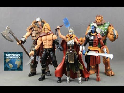 """Marvel Legends 2017 SDCC Exclusive 6"""" Thor Figure Boxset Review"""