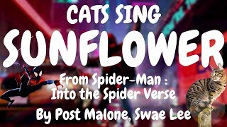 Cats Sing Sunflower from Spider-Man: Into the Spider-Verse by Post Malone & Swae Lee