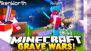 Minecraft - 2V2 GRAVE WARS! #1 (Sky Wars) - w/Preston & Kenny