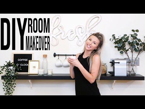 BUDGET KITCHEN MAKEOVER | Home Decor Haul + DIY Coffee Bar
