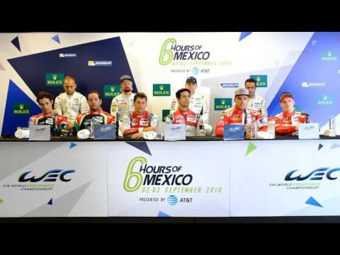 WEC 2016 6 Hours of Mexico City - Post Qualifying Press Conference