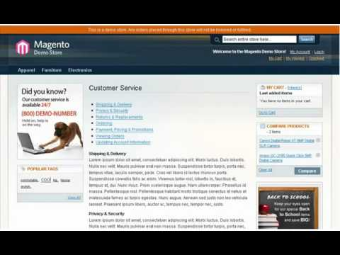 Magento - Landing Pages - YouTube