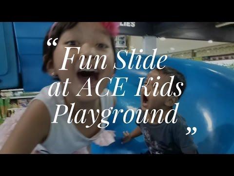 Fun Slide at ACE Kids Playground, Depok, Indonesia