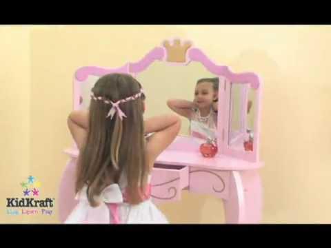 Туалетный столик-трельяж с зеркалом ПринцессаKidKraft 76123