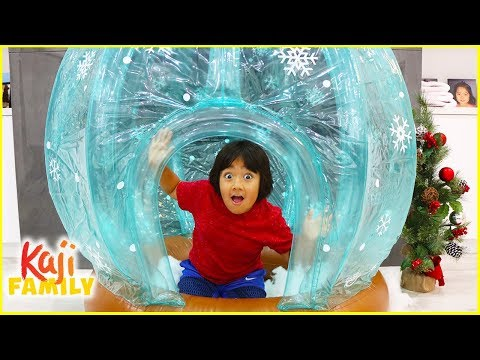 Ryan play in Giant Inflatable Globe!!!