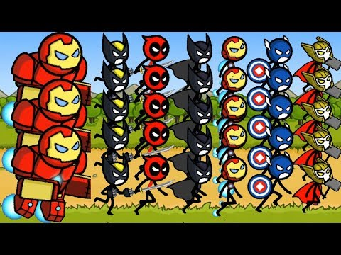 HERO WARS: Super Stickman Defense - All 8 Characters Unlocked and Fully Upgraded Hack Cheat Gameplay