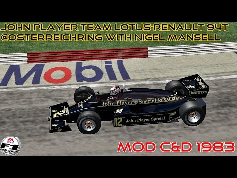 [F1C] John Player Team Lotus-Renault 94T @Osterreichring with Nigel Mansell | Mod C&D 1983 [HD]