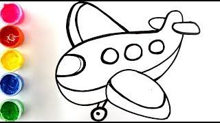рисунки для детей, рисуем самолет и ракету. Drawings for children