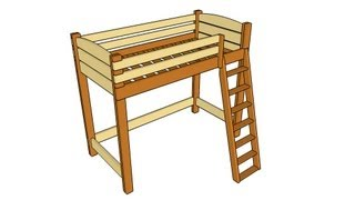 FULL PLANS at: http://www.howtospecialist.com/finishes/furniture/how-to-build-a-loft-bed-with-stairs/ SUBSCRIBE for a new DIY
